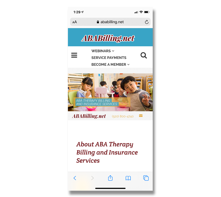 Mobile Web Design: ABA Therapy Billing and Insurance Services