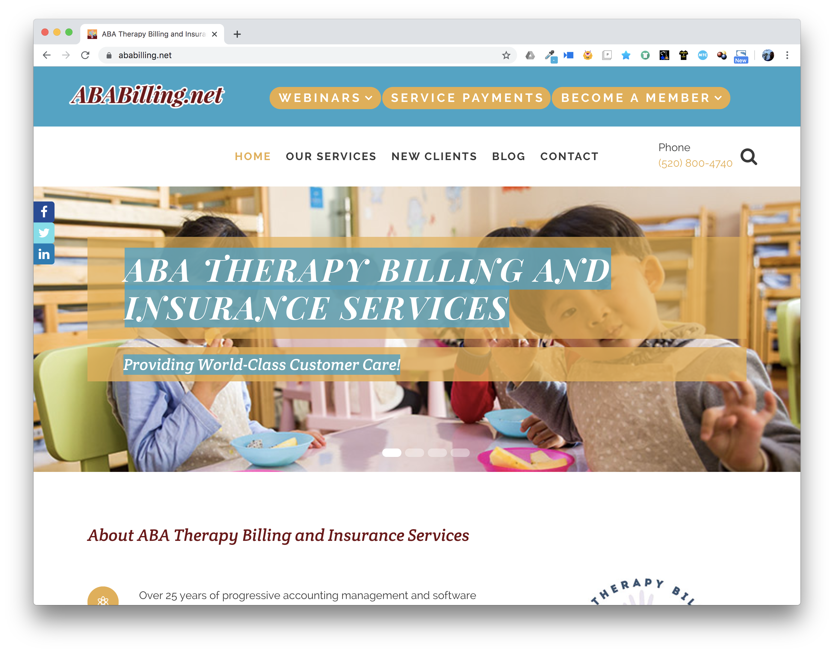 Web Design: ABA Therapy Billing and Insurance Services