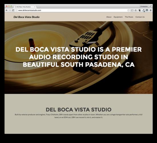 Web Design: Del Boca Vista Studios