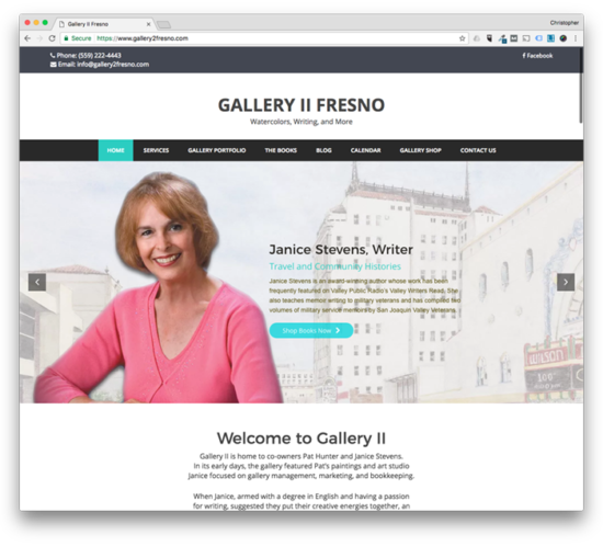 Web Design: Gallery II Fresno