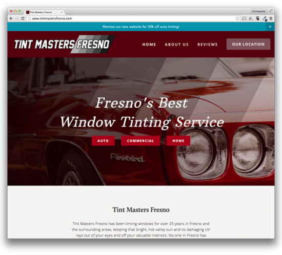 Web Design: Tint Masters Fresno