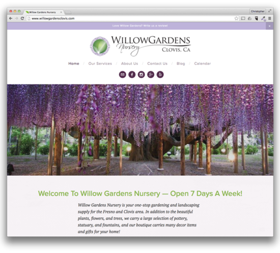 Web Design: Willow Gardens Nursery