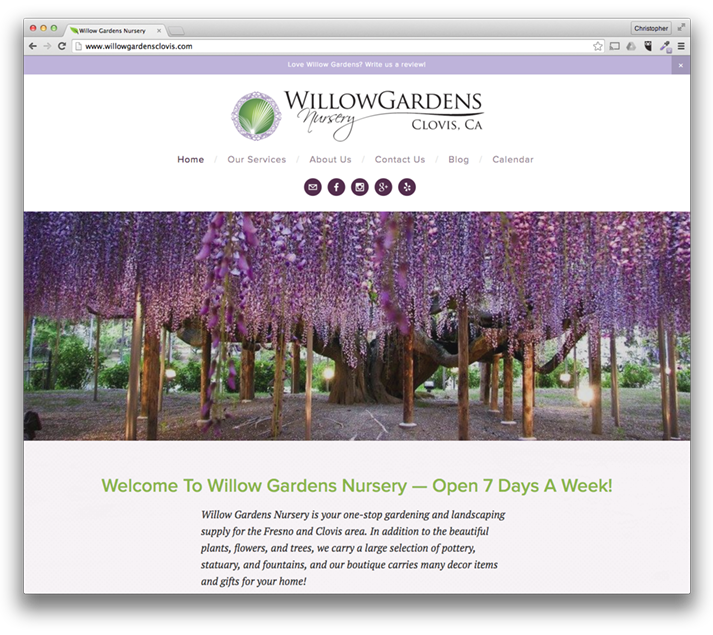 Web Design: Willow Gardens Nursery