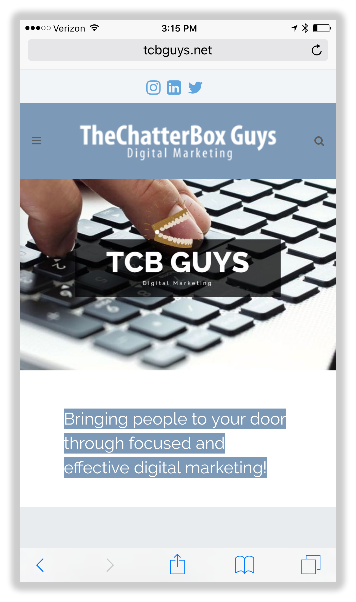Mobile Web Design: TheChatterBox Guys