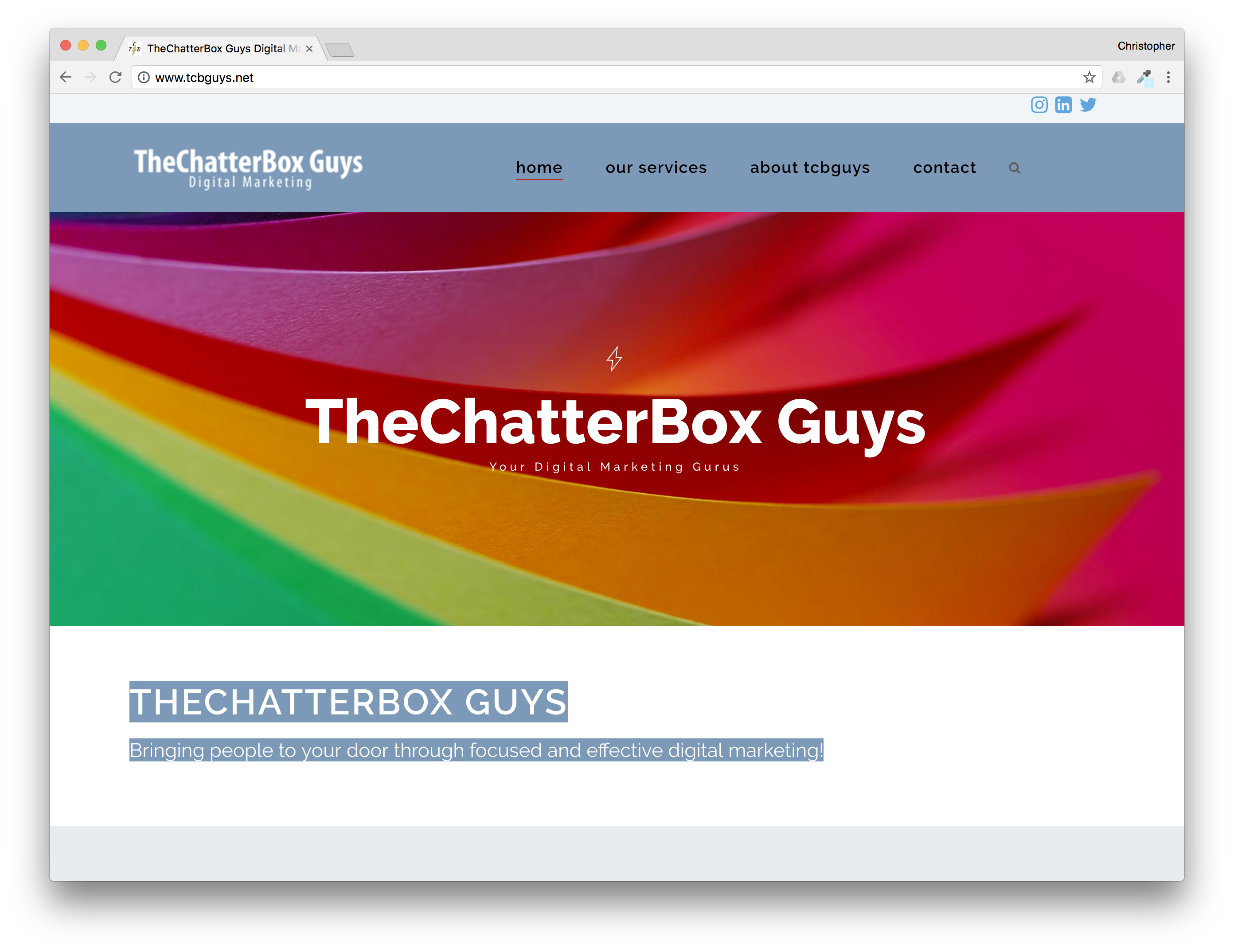 Web Design: TheChatterBox Guys