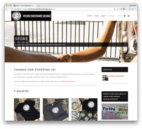 TheChatterBox Guys Web Design: Fresno Skateboard Salvage