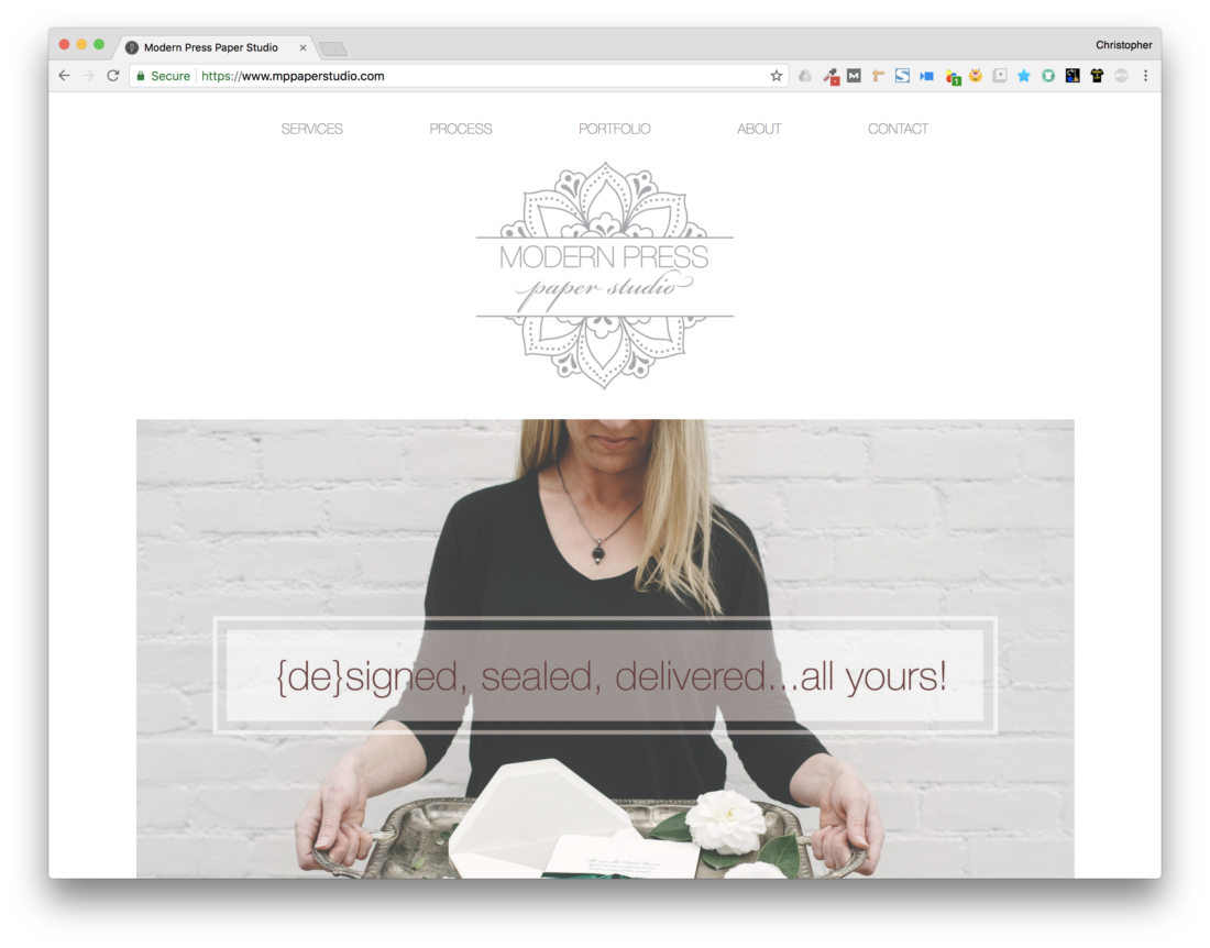 TheChatterBox Guys Web Design: Modern Press Paper Studio