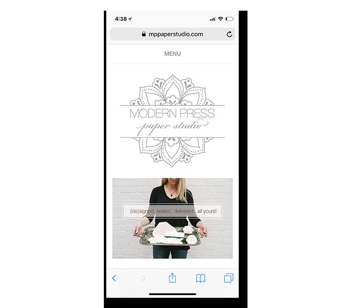 TheChatterBox Guys Mobile Web Design: Modern Press Paper Studio